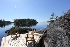 Peaceful view from Paulala's dock. Niinisaari, Puumala
