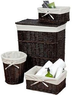 Creative Bath Wickerworks 4-pc. Storage Hamper Set