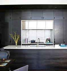 Great ebony cabinets by designer Kara Mann.