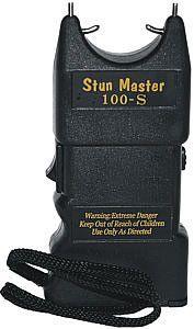 "Stun Master 100,000 volt stun gun  $22.00  Lifetime Warranty  4.5"" tall"
