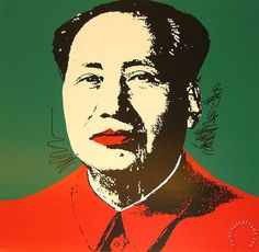 Mao Zedong on a canvas painted in Andy Warhol - Google Search