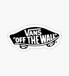 Buy 'vans off the wall' by as a Sticker. Stickers Cool, Brand Stickers, Tumblr Stickers, Name Stickers, Printable Stickers, Black And White Stickers, Vans Logo, Vans Off The Wall, Aesthetic Stickers