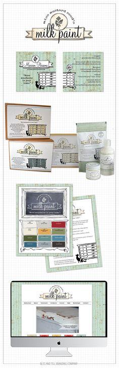 BLISS AND TELL BRANDING COMPANY ::: design, branding & packaging for miss mustard seed's milk paint  www.blissandtellbrandingcompany.com