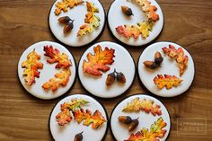 #COOKIE CONNECTION ALERT: In our latest edition of Every Little Detail with Aproned Artist, we've got curvy fall leaves and royal icing acorns, in perfect time for fall. COOKIES AND PHOTO BY APRONED ARTIST.