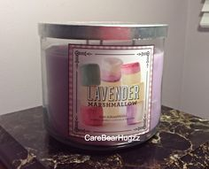 Bath and Body Works Lavender Marshmallow candle (Spring 2014 Sweet Shop collection )