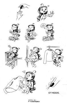 Cassandra Calin est une jeune artiste Roumaine de 21 ans, installée à Montréal, au Canada. Son truc ? Dessiner des petites bandes dessinées basées sur la vie en général, inspirée de ses exp&eacu...
