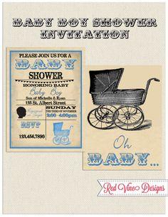 Adorable Baby Boy Shower Invitations