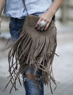 Bags for Stylish and free-spirited women #bag #currymoon #bagwithfringe