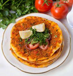 Vegane türkische Pizza