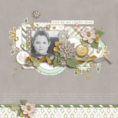One of my lucky stars. My Gabriel who turned 11 today!   For SSD March Bingo 18: Cut it Out  Happiness Is: Knowing You are Lucky by Tickled Pink Studio and Meg Mullens  Olenader Template by Sara Gleason