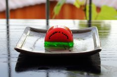 Today's wagashi - 28.08.2016: 西瓜 Watermelon