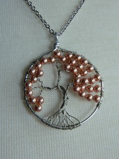 TREE OF BLOOMS - Swarovski pearl Tree of Life Necklace by Crow Haven Road