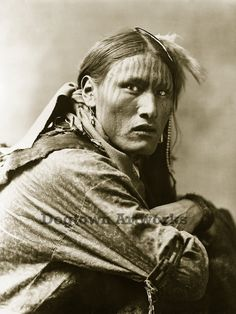 White Belly, Restored Reprint of Vintage Native American Sioux Man Portrait Photograph