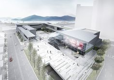 Mall Facade, Facade House, House Roof, Concept Architecture, Landscape Architecture, Architecture Design, Great Buildings And Structures, Modern Buildings, Co Housing