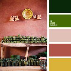 Цветовая палитра №4224 Summer Shades, Green Shades, Brick Colors, Color Balance, Colour Schemes, Colour Palettes, Color Swatches, Beige Color, Color Pallets