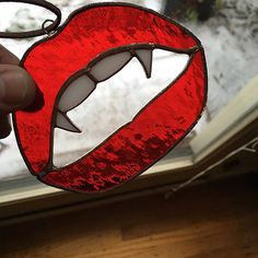 Sex up your window with my vamp lips, fangs included. It measures 3.5 by 4