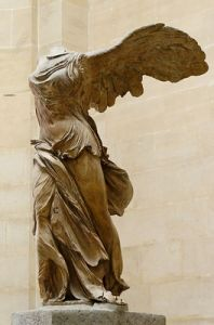 "Nike, Greek Goddess of Victory. (This makes me think of the ""One Winged Angel"" story trope.)"