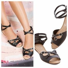 NIB Seychelles You Know Me Black D'orsay Sandals Adorable black leather ankle wrap sandals with d'orsay cut. New in box! Currently available at Nordstrom Rack for $56. Seychelles Shoes Sandals