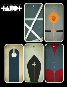 Minimal Art Tarot cards design