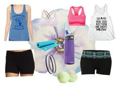 """Yoga"" by kikikitty44 on Polyvore featuring Lucy, Aerie, LE3NO, Manduka, CamelBak, Charlotte Russe and Eos"