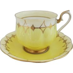 Early Royal Albert Art Deco Styled Tea Cup and Saucer