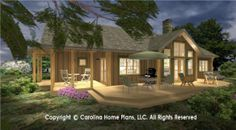 Small house plans - SG-1688-AA open floor plan craftsman cabin home plan