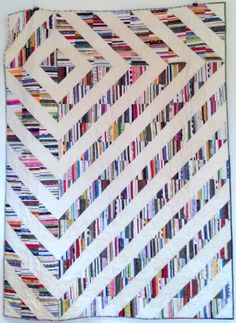 Selvage Blog: Aleesa Kobis New Selvage Quilt. make your fabric from selvages then use regular quilt pattern.