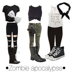•Zombie apocalypse• outfits. That are so cute and easy for the apocalypse