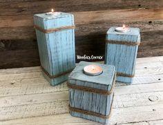 Wooden candle holder, Tea light holder, Custom candle holder, Decorative candle holder, Candle pillars, Candle decor, Wood candle holder by WoobiesCorner on Etsy