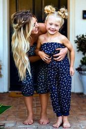 50 Looks: Mãe e Filha! – Hairstyle a… – DIY Geschenke und Hochzeit Mother Daughter Pictures, Mother Daughter Outfits, Mommy And Me Outfits, Future Daughter, Family Outfits, Kids Outfits, Savannah Soutas, Cole And Savannah, Cute Hairstyles For Kids
