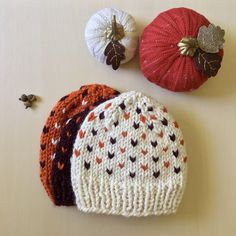 Chunky Knit Wool Beanie, Ivory, Maroon, and Orange Hand Knit Beanie, Multicolor Flecked Hat, Virginia Tech Knit Hat, Made to Order Knit Scarves, Knit Hats, Knit Beanie, Fall Knitting, Virginia Tech, Knit Crochet, Knitting Patterns, Winter Hats, Ivory