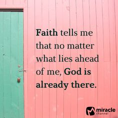 No matter what lies ahead, God is already there!