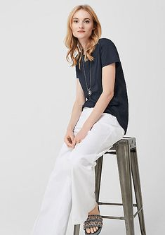 T-Shirts im Sale bei s.Oliver: Reduzierte T-Shirts & Tops für Damen Jersey Shirt, Pink Lila, T Shirts, Normcore, Style, Products, Tops, Fashion, Fabric Patterns