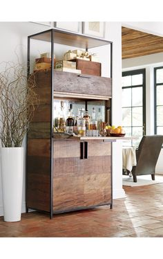 Clive Bar Cabinet | Crate and Barrel                                                                                                                                                                                 More