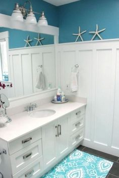 90+ BEST INSPIRE COASTAL NAUTICAL BATHROOM DESIGN & DECOR IDEAS