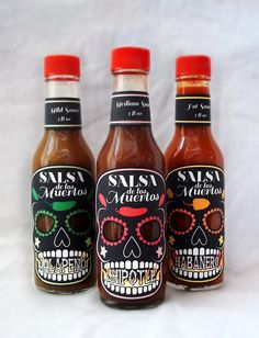 Salsa de los Muertos. Think its hot? : ) PD *** More skulls. Too many products already pushing that 'macho' image. Its not inclusive, and thats important.