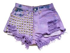 cool, lilac, studded short