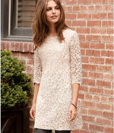 Can't resist a lace dress.