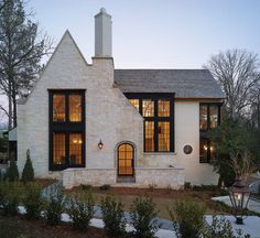 Cottage Exterior, Dream House Exterior, Exterior House Colors, Home Exterior Design, Stone Exterior Houses, Home Styles Exterior, Exterior Homes, House Exteriors, Style At Home