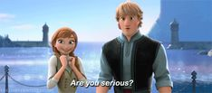 Photo of Anna and Kristoff for fans of Frozen.