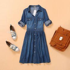 Джинсовое платье (размеры 42-54)