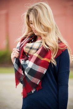 Blanket Scarf: GARNET