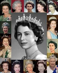 Royal Tiaras Part Tiaras The Queen wears (swipe left). It was made in 1919 for Queen Mary out of diamonds from a tiara Queen Victoria purchased in The Queen Mum later lent it to Princess Elizabeth on her wedding day (al Queen Mary, Queen Elizabeth Ii, King Queen, English Royal Family, British Royal Families, Royal Crowns, Royal Tiaras, Isabel Ii, Her Majesty The Queen