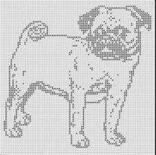Afbeeldingsresultaat voor pug cross stitch pattern free