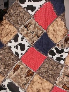 Way Out West... Baby or Toddler Rag Quilt. $45.00, via Etsy.