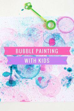 Bubble Painting Art Ideas