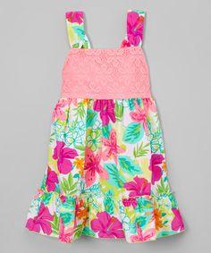 Pink Floral Sleeveless Dress - Infant, Toddler & Girls
