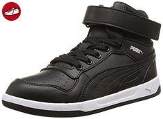 Puma Liza Mid, Mädchen Hohe Sneakers, Schwarz (black/black/black), 37 EU - Puma schuhe (*Partner-Link)