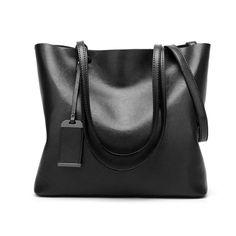Women Genuine leather Shoulder Bags Zipper Handbags for Women Top Handle Bag Tote Bags by YUNS (Black) Black Leather Tote, Leather Handle, Leather Shoulder Bag, Ysl Tassel Bag, Leather Satchel Handbags, Satchel Bag, Designer Shoulder Bags, Black Handbags, Bucket Bag