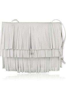 Proenza Schouler The Lunch Bag fringed leather shoulder bag | NET-A-PORTER